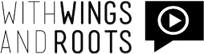 Logo with wings and roots